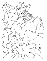 jumping zebra coloring pages download free jumping zebra
