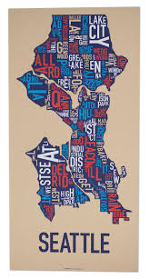 Seattle Crime Map by All Our Posters Ork Posters Complete Collection Of Typographic Maps