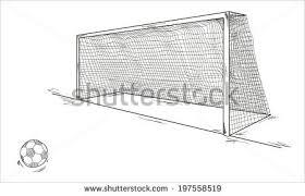 vector football ball goal sketch stock vector 197558519 shutterstock