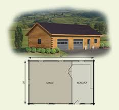 cabin plans with garage garage workshop log home and log cabin floor plan home