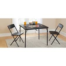 half table for kitchen mainstays 34 square fold in half table black walmart com