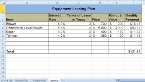 Auto Lease Calculator Spreadsheet Chapter Assignments And Tests