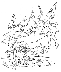 coloring pages of tinkerbell inside picture of tinkerbell