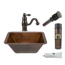 sinkology freud undermount handmade pure solid copper bathroom