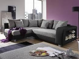 canapé d angle blanc et noir canapé d angle convertible tissu et simili kuopio gris et noir