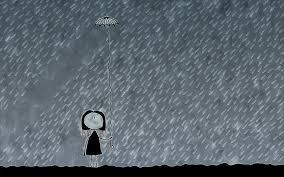 vladstudio umbrella rain weather overcast gray drops funny