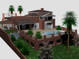 provincial house suburb home mansion max 3ds max software