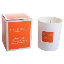 buy max benjamin scented candle mimosa u0026 sweet amber 190g amara