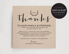 words for wedding thank you cards wedding thank you card with pre printed thank you message on back