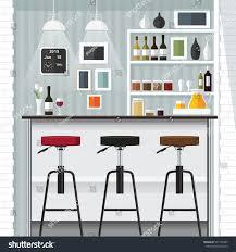 modern flat design kitchen bar interior stock vector 321772487 modern flat design kitchen bar interior vector illustration