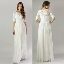 Wedding Dresses Cheap Discount Modest 2016 Wedding Dresses Cheap Half Sleeves Lace