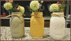 Mason Jar Vases Distressed Mason Jars Under A Texas Sky