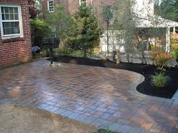 Basket Weave Brick Patio by Garden Wall Brick Patterns Compare Pavers To Concrete Concrete