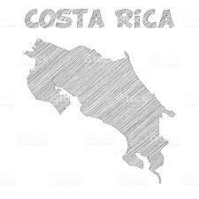 Map Costa Rica Costa Rica Map Hand Drawn On White Background Stock Vector Art