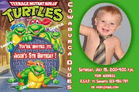 free printable teenage mutant ninja turtles birthday invitation