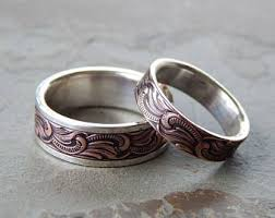 unique wedding bands unique wedding band etsy