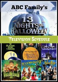 abc family 13 nights of show schedule