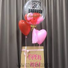 balloon in a box personalised balloon box 24 clear transparent