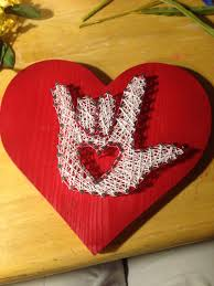 nail and string art asl i love you crafts pinterest string