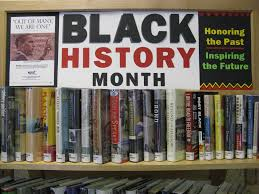 westwood library black history month book display made with my
