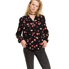 print blouses blouses shirts large hilfiger popover print blouse