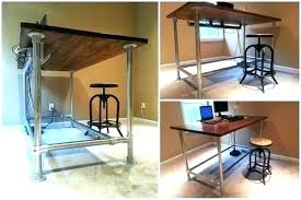 diy adjustable standing desk building your own standing desk at his new desk standupdesk 4