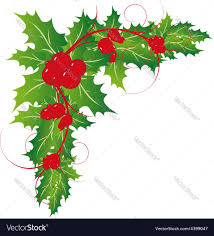 christmas holy leaves ornament royalty free vector image