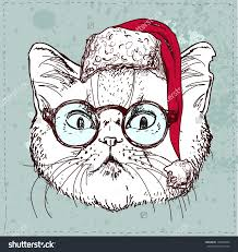 cat drawing stock photos images pictures shutterstock christmas