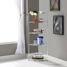 Wall Corner Shelves by Amazon Com Lifewit Corner Shelf 5 Tiers Adjustable Metal Storage