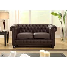 canap chesterfield 2 places cuir chesterfield canapé droit chesterfield en cuir et simili 2 places