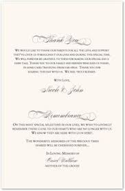 wedding memorial wording wedding program remembrance wording mini bridal