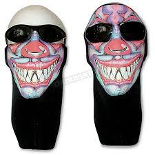 wicked wear clown cool weather half face mask 2510 atv dirt bike