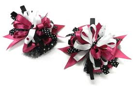hair bow maker hair bow tutorial matching pink and black bows