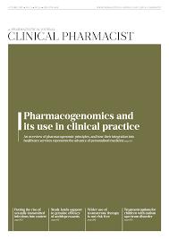 clinical pharmacist a royal pharmaceutical society publication