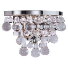Polished Nickel Wall Sconce Robert Abbey Lighting S1001 Bling Wall Sconce