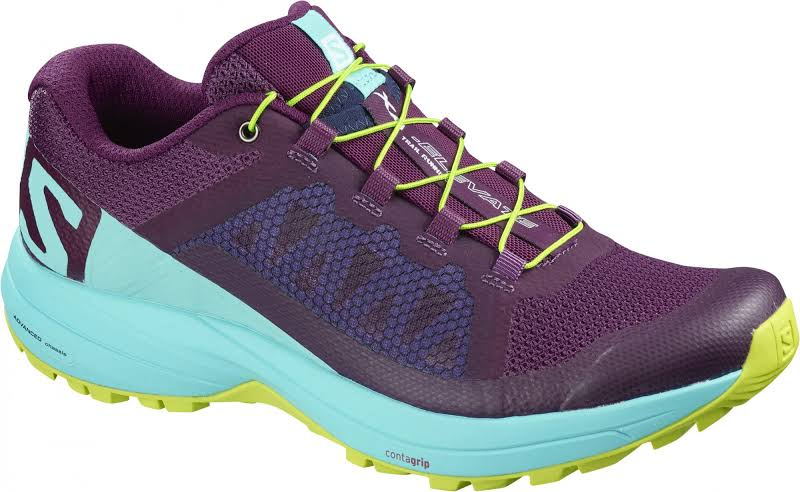 Salomon XA Elevate W Road Running Shoe Dark Purple/Blue Curacao/Acid Lime 9.5 US L40137800-9.5