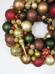ornament wreath glass ornament heirloom wreath brown green
