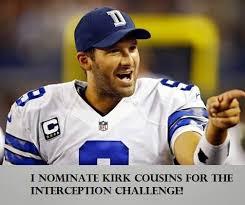 Romo Interception Meme - 22 meme internet i nominate kirk cousins for the interception