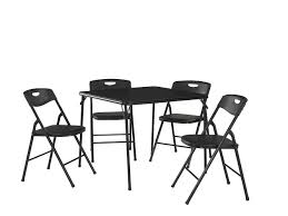 Table And Chair Sets Cosco Products 5 Pc Folding Table And Chair Set Black