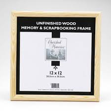 12x12 scrapbook unfinished wood scrapbooking frame 12x12 inches