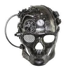 steunk masquerade mask skull the terminator steunk mask made masquerade