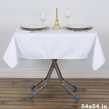 tablecloth for 54x54 table 54 x 54 wrinkle and stain resistant premium polyester tablecloth