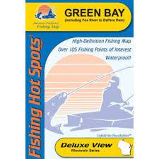 Green Bay Map Fishing Spots Green Bay U0026 Lower Fox River Map By Fishing