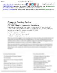 periodic table basics pdf chemical bonding basics for dummies pdf at lincoln trail college