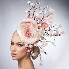 floral headdress pink floral headdress cherry blossoms fascinator hat l ve pink