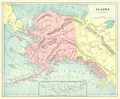Alaska Route Map by Maps Antique United States Us States Alaska