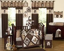 Crib Bedding Boys Sweet Jojo Designs 9 Chocolate Brown Teddy