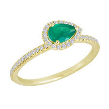 teardrop engagement rings gold and emerald teardrop ring