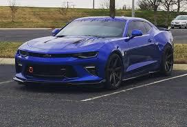 blue chevrolet camaro hyper blue chevrolet camaro ss 6th rohana rc7 graphite wheels