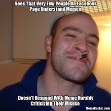 Create Facebook Meme - sees that very few people on facebook page understand memes create